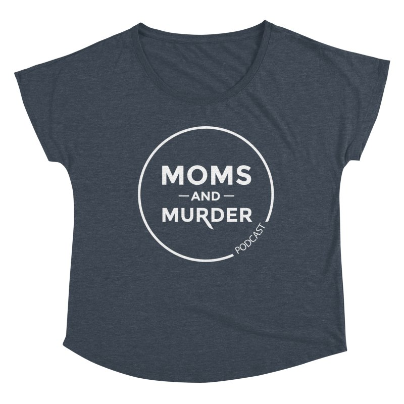 Moms and Murder Logo Ring- Dark Gray Women's Scoop Neck by Moms And Murder Merch