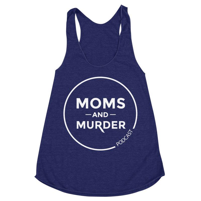 Moms and Murder Logo Ring- Dark Gray Women's Racerback Triblend Tank by Moms And Murder Merch