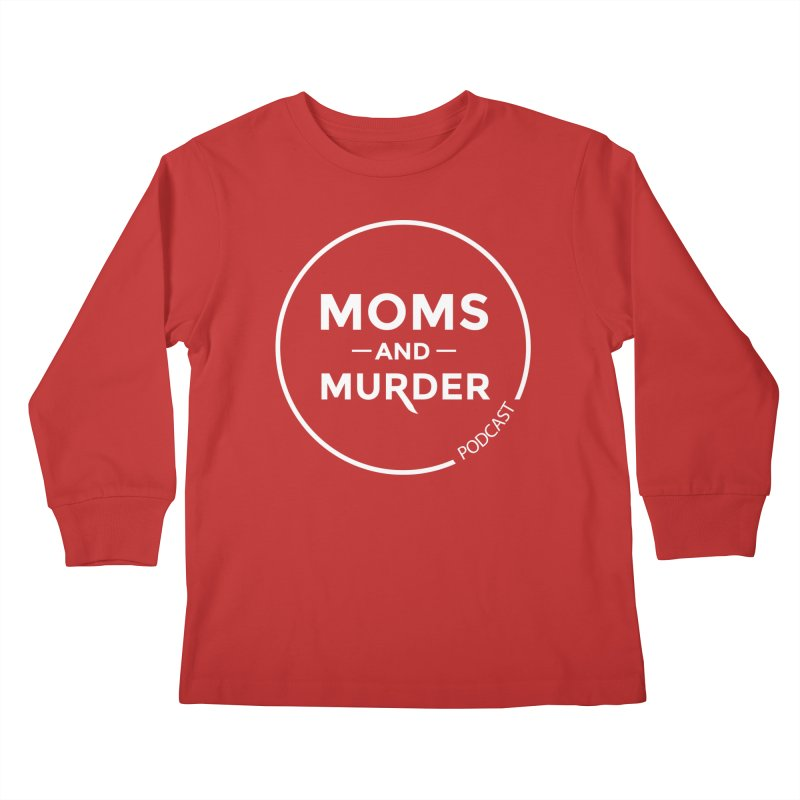 Moms and Murder Logo Ring- Dark Gray Kids Longsleeve T-Shirt by Moms And Murder Merch