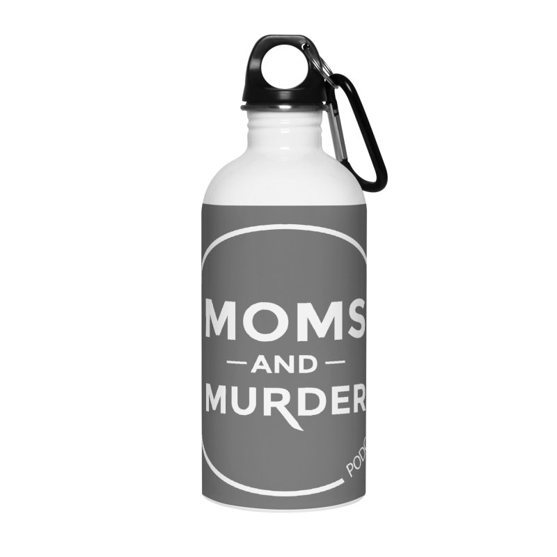 Moms and Murder Logo Ring- Dark Gray Accessories Water Bottle by Moms And Murder Merch