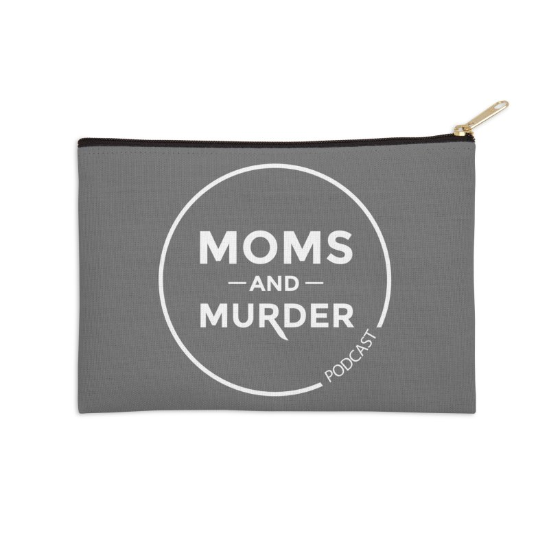 Moms and Murder Logo Ring- Dark Gray Accessories Zip Pouch by Moms And Murder Merch