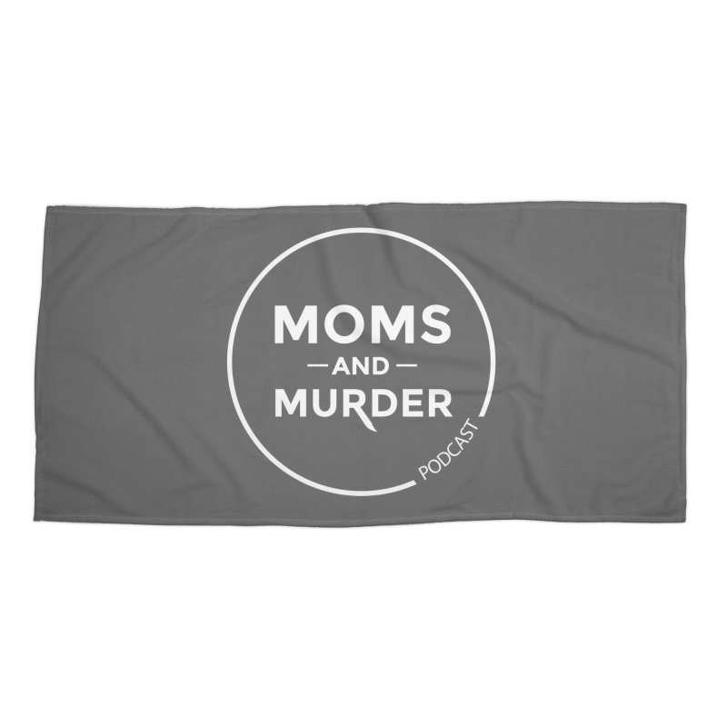 Moms and Murder Logo Ring- Dark Gray Accessories Beach Towel by Moms And Murder Merch