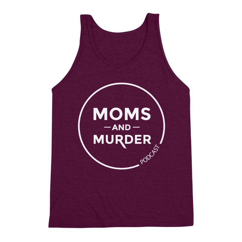 Moms and Murder Logo Ring in Pink Men's Triblend Tank by Moms And Murder Merch