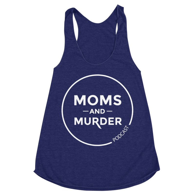 Moms and Murder Logo Ring in Pink Women's Racerback Triblend Tank by Moms And Murder Merch