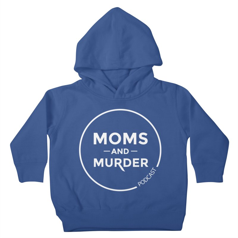 Moms and Murder Logo Ring in Pink Kids Toddler Pullover Hoody by Moms And Murder Merch
