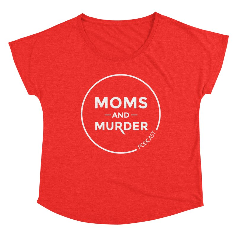 Moms and Murder Logo Ring in Pink Women's Scoop Neck by Moms And Murder Merch