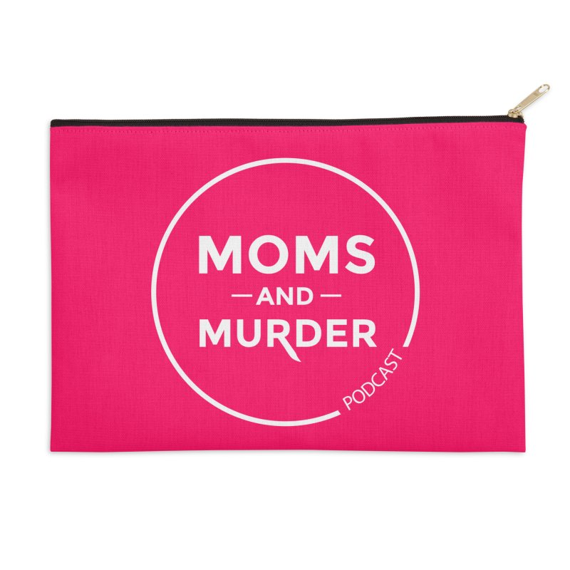 Moms and Murder Logo Ring in Pink Accessories Zip Pouch by Moms And Murder Merch