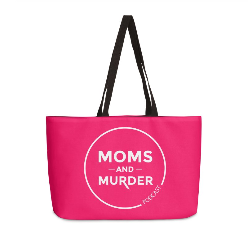 Moms and Murder Logo Ring in Pink Accessories Weekender Bag Bag by Moms And Murder Merch