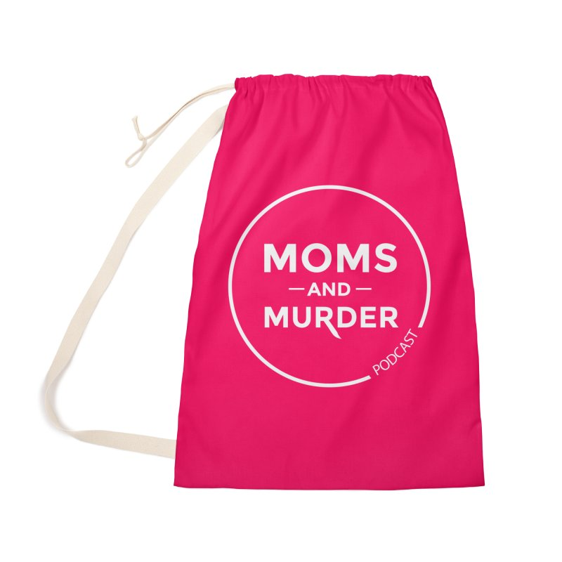 Moms and Murder Logo Ring in Pink Accessories Bag by Moms And Murder Merch
