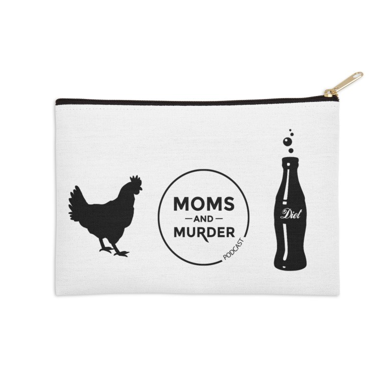 Chickens and Diet Coke Accessories Zip Pouch by Moms And Murder Merch