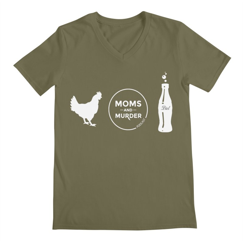 Chickens and Diet Coke Men's V-Neck by Moms And Murder Merch