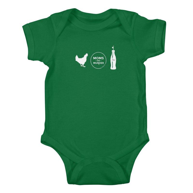 Chickens and Diet Coke Kids Baby Bodysuit by Moms And Murder Merch