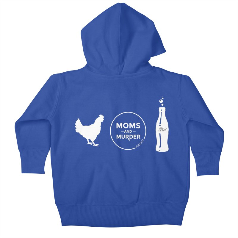 Chickens and Diet Coke Kids Baby Zip-Up Hoody by Moms And Murder Merch