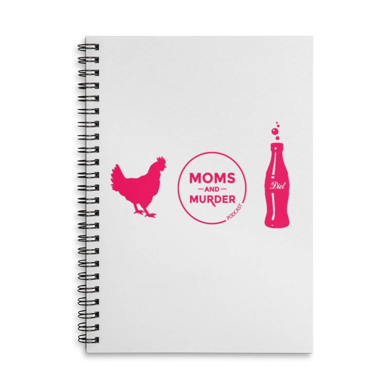Chickens and Diet Coke Accessories Lined Spiral Notebook by Moms And Murder Merch