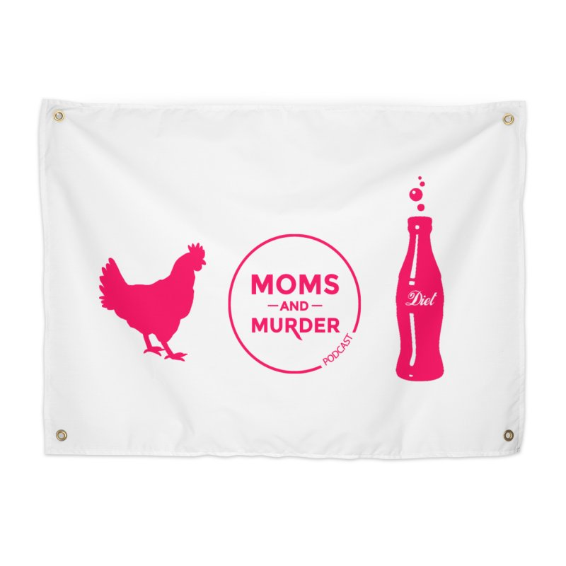 Chickens and Diet Coke Home Tapestry by Moms And Murder Merch
