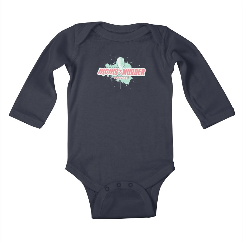 Moms & Murder Podcast by Mark Jones Kids Baby Longsleeve Bodysuit by Moms And Murder Merch