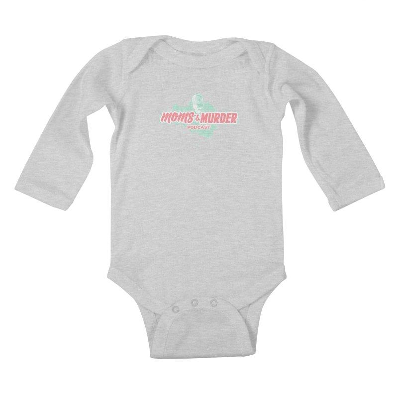 Moms & Murder Podcast by Mark Jones Kids Baby Longsleeve Bodysuit by Moms And Murder Merch