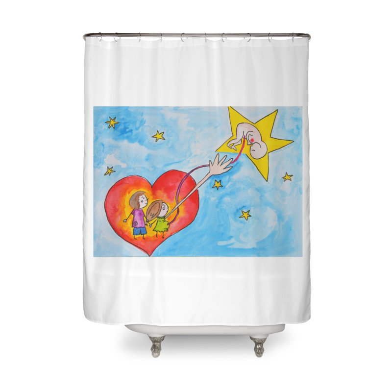 Little star Home Shower Curtain by Monera