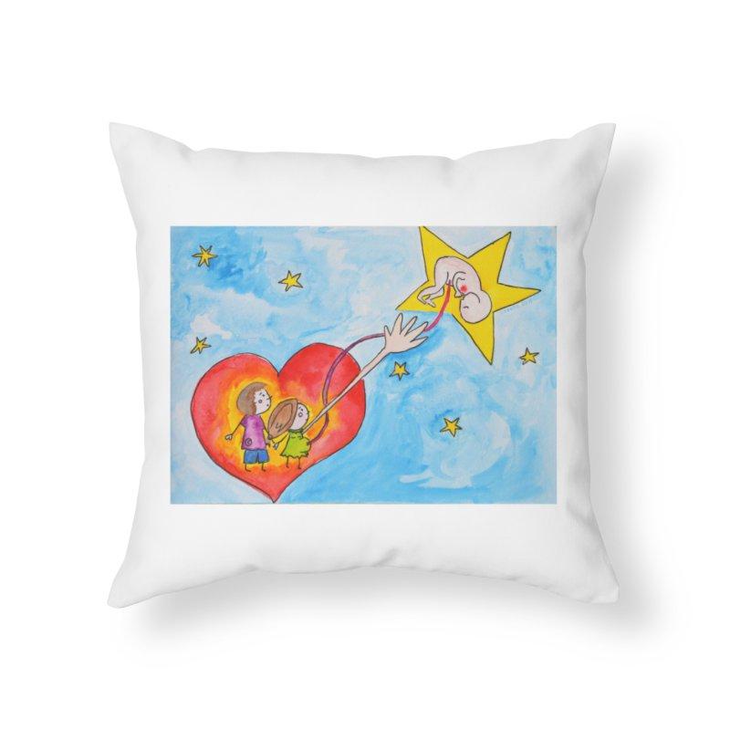 Little star Home Throw Pillow by Monera
