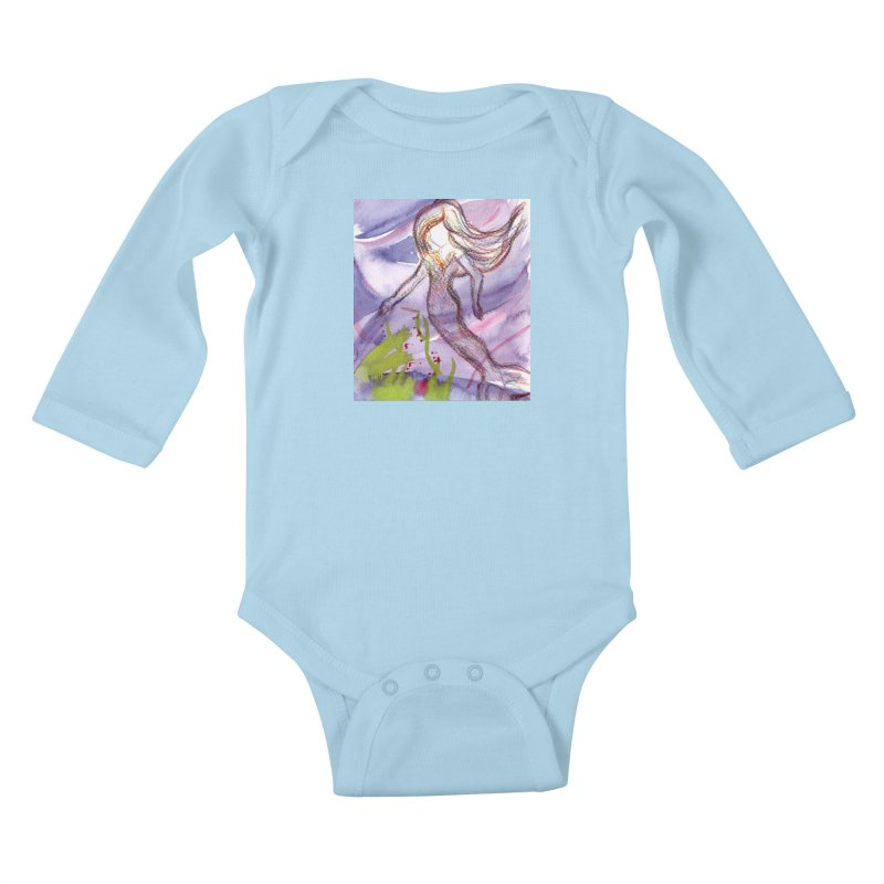 Deep under Kids Baby Longsleeve Bodysuit by Monera
