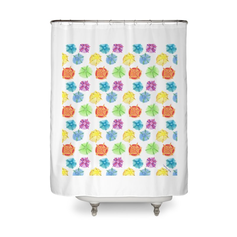 Charms Home Shower Curtain by Monera