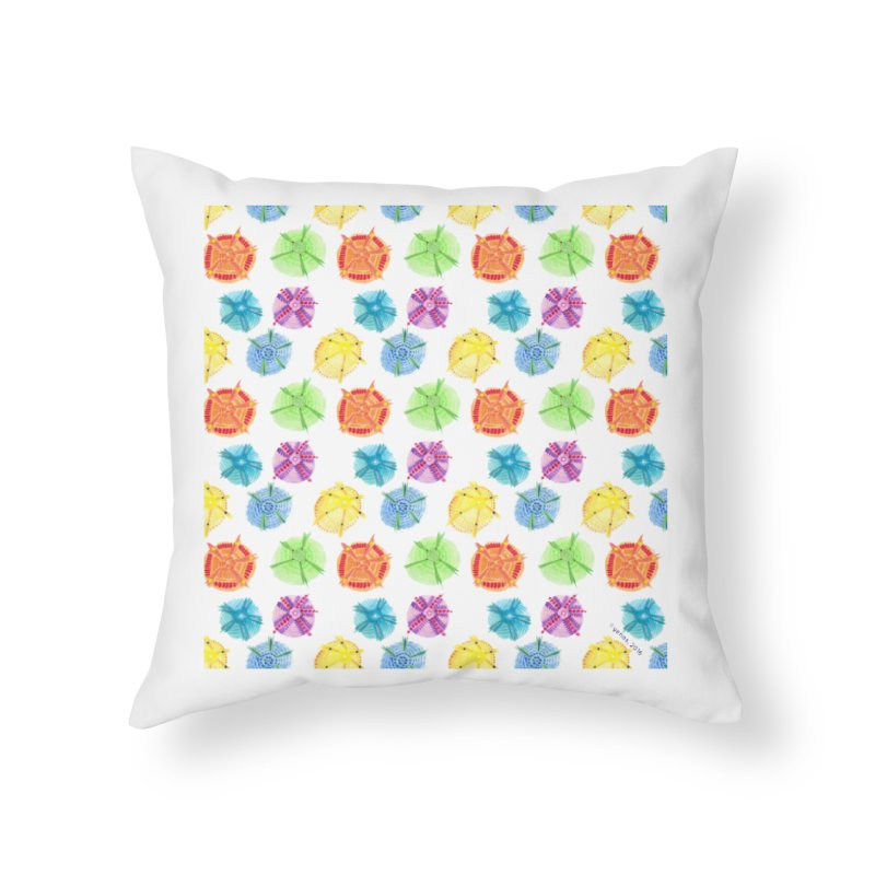 Charms Home Throw Pillow by Monera