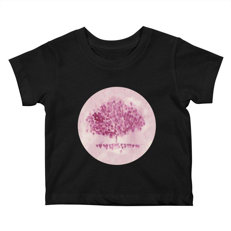 Sakura Kids Baby T-Shirt by Monera