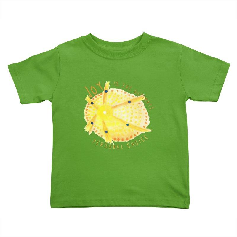 Joy Kids Toddler T-Shirt by Monera