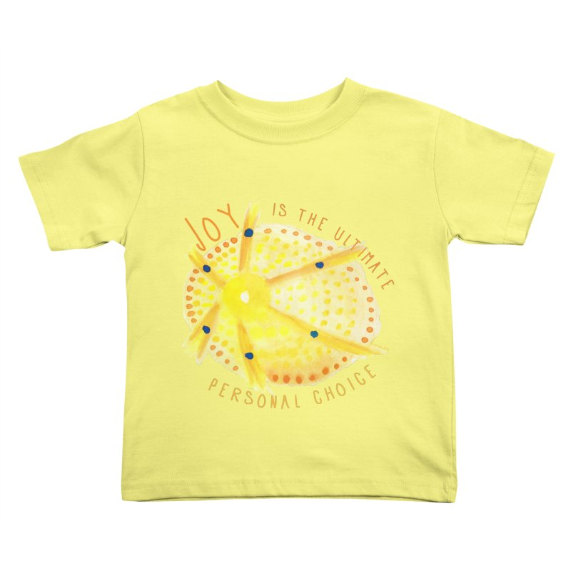 Joy Kids Toddler T-Shirt by Monera