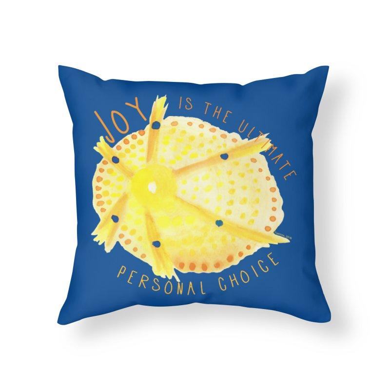 Joy Home Throw Pillow by Monera