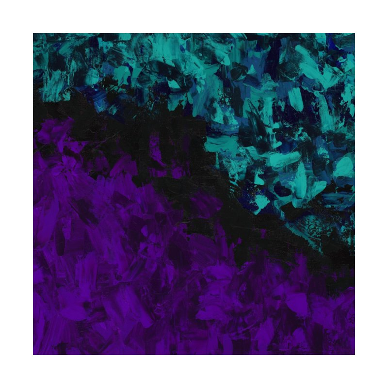 Dating Life Purple and Turquoise by Monica Shriver's Artist Shop