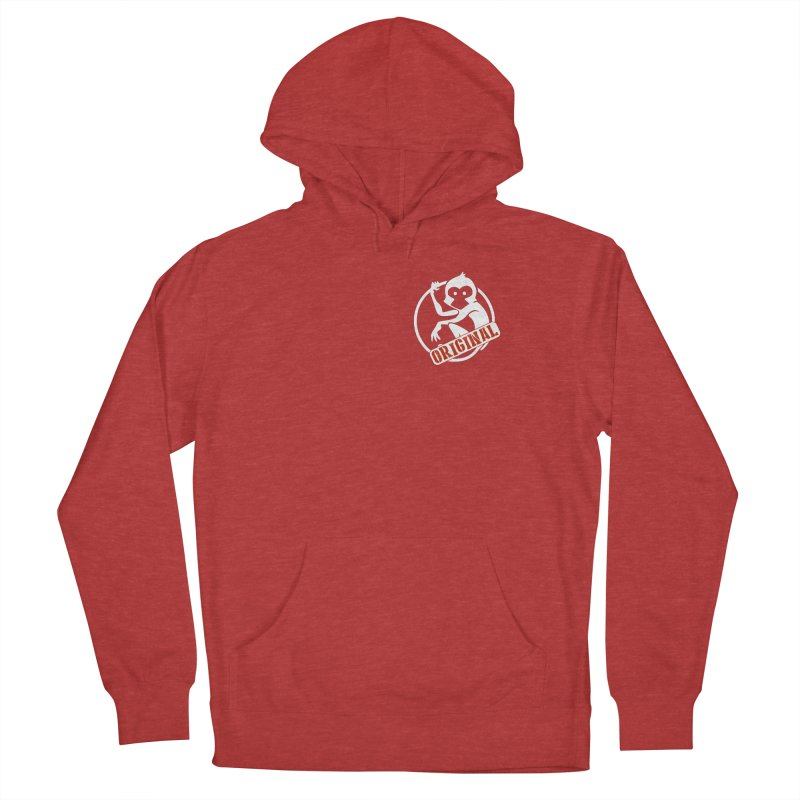 Monkey Original Small Logo Women's French Terry Pullover Hoody by The m0nk3y Merchandise Store