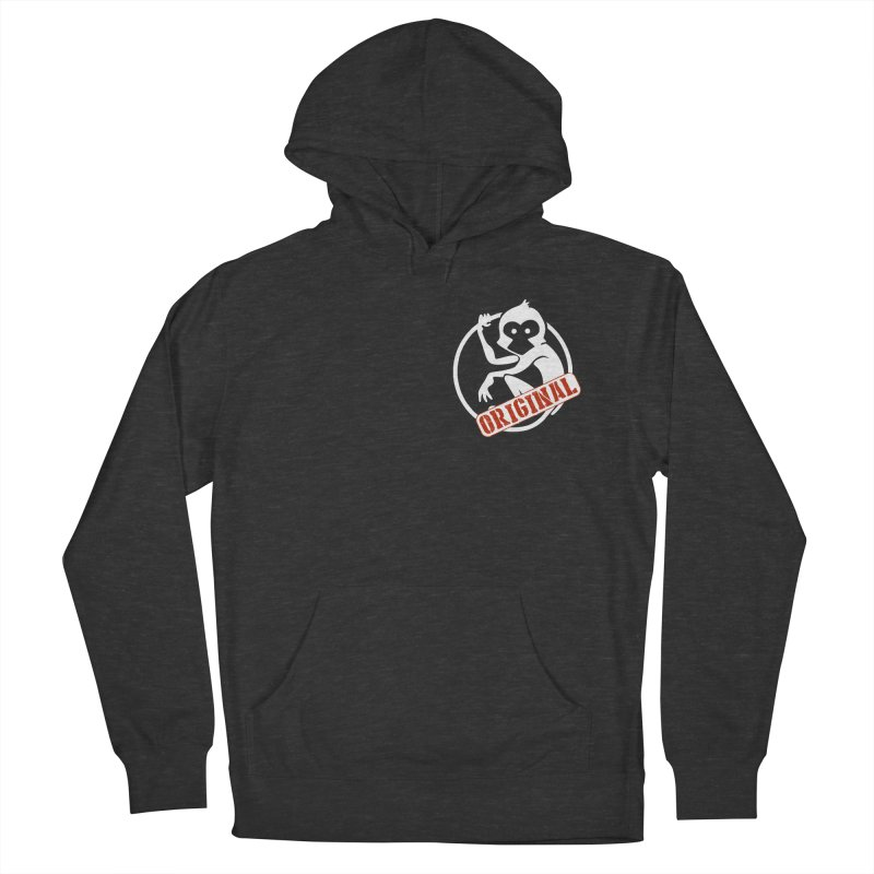 Monkey Original Small Logo Men's French Terry Pullover Hoody by The m0nk3y Merchandise Store
