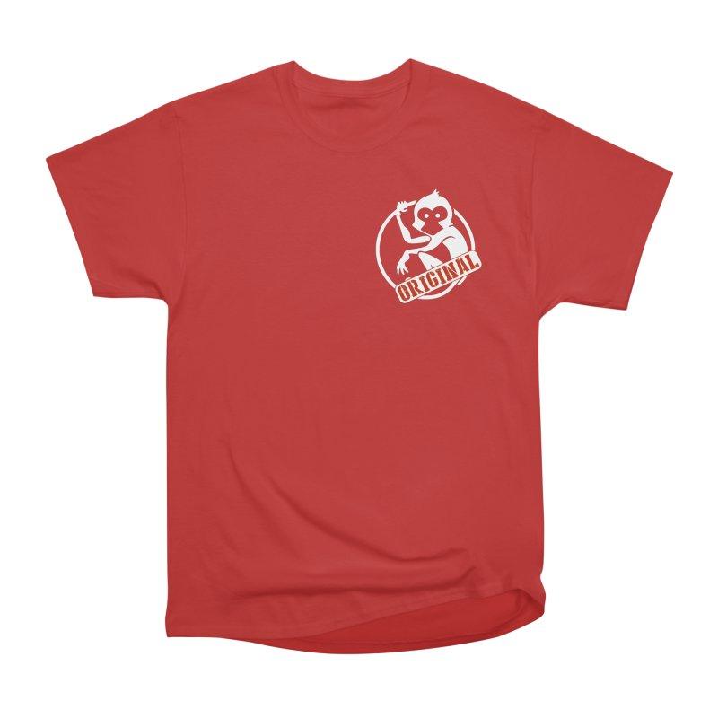 Monkey Original Small Logo Men's Heavyweight T-Shirt by The m0nk3y Merchandise Store