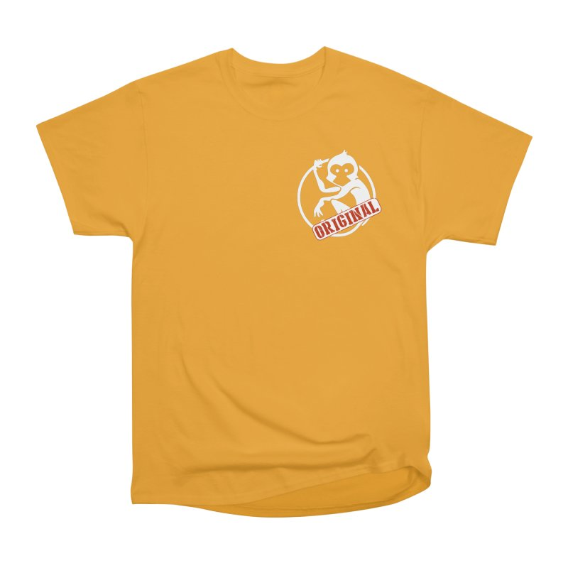 Monkey Original Small Logo Men's Heavyweight T-Shirt by The m0nk3y Merchandise Store