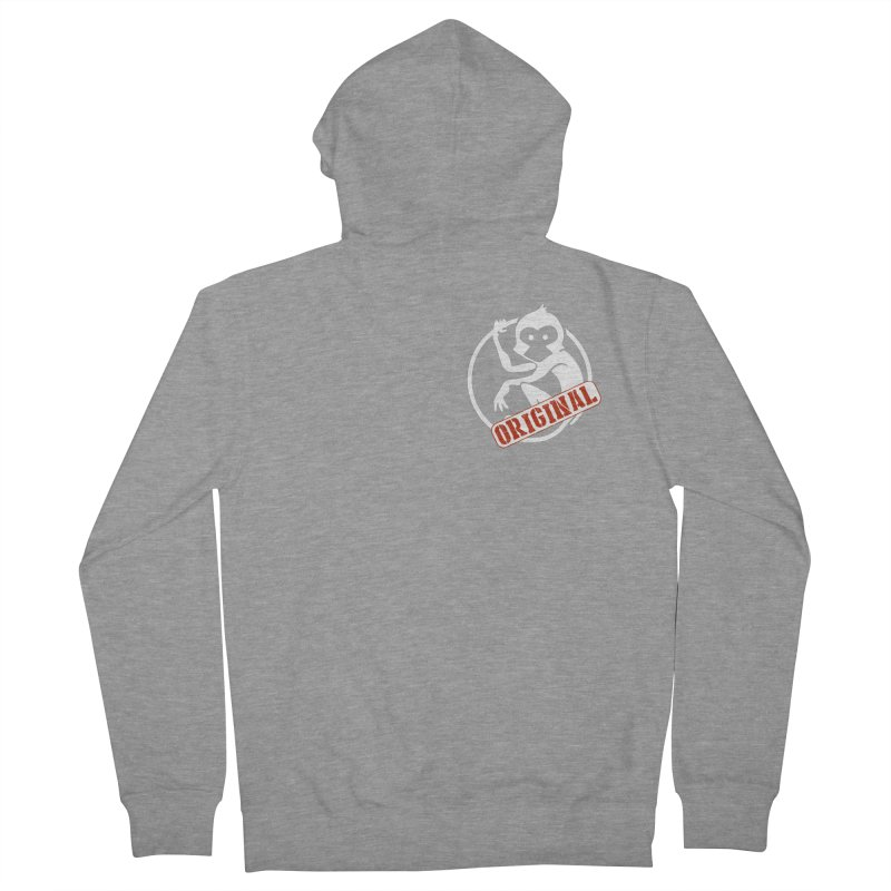 Monkey Original Small Logo Women's French Terry Zip-Up Hoody by The m0nk3y Merchandise Store