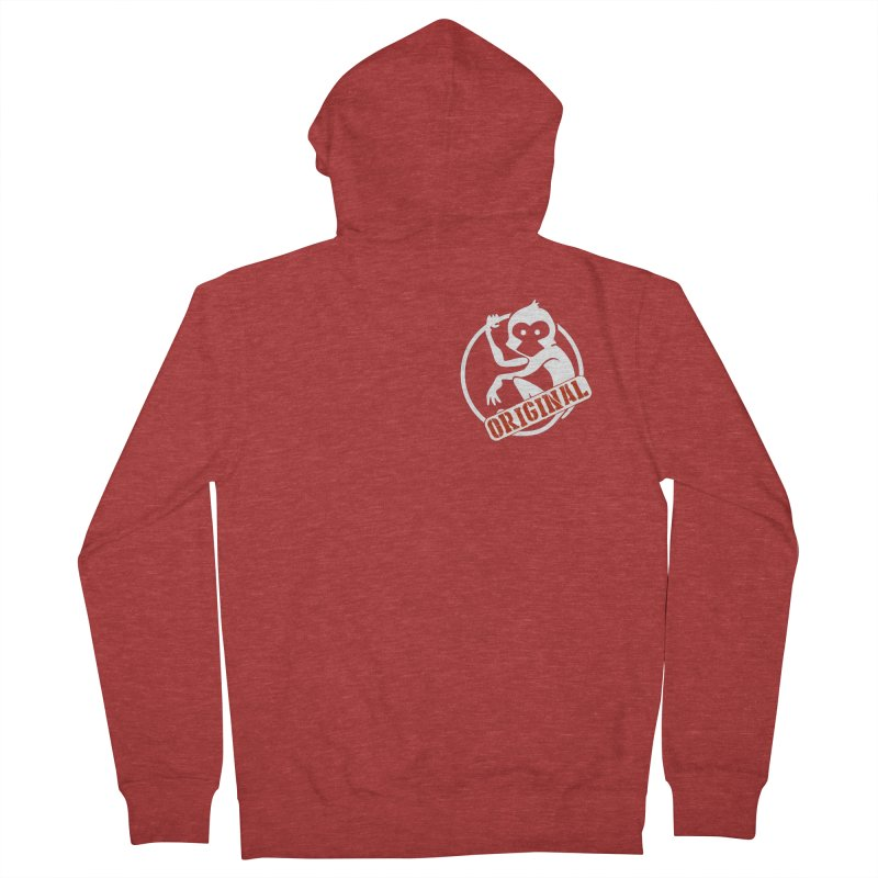 Monkey Original Small Logo Men's French Terry Zip-Up Hoody by The m0nk3y Merchandise Store