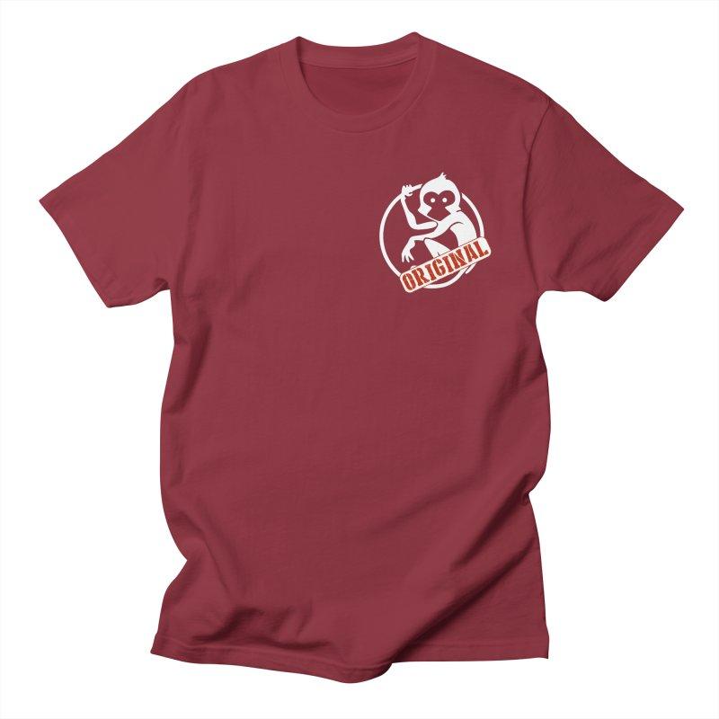 Monkey Original Small Logo Men's Regular T-Shirt by The m0nk3y Merchandise Store