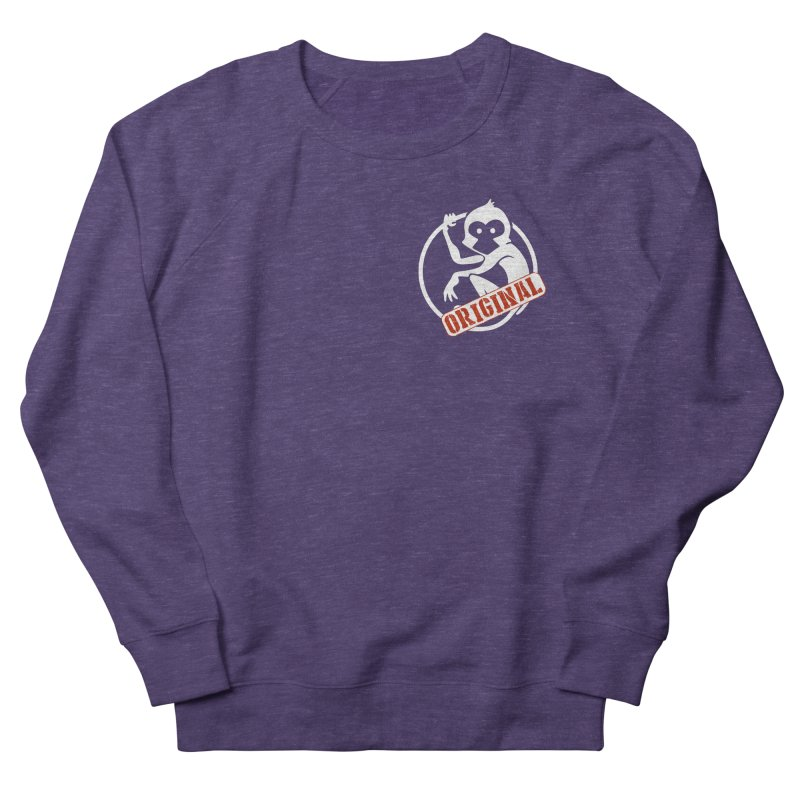 Monkey Original Small Logo Women's French Terry Sweatshirt by The m0nk3y Merchandise Store