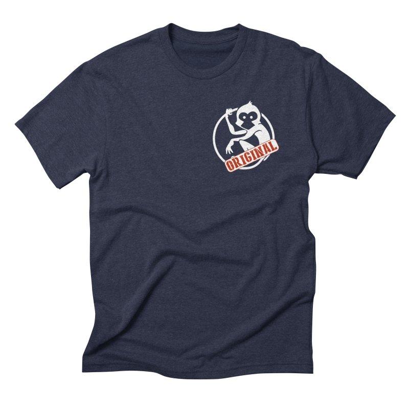 Monkey Original Small Logo Men's Triblend T-Shirt by The m0nk3y Merchandise Store