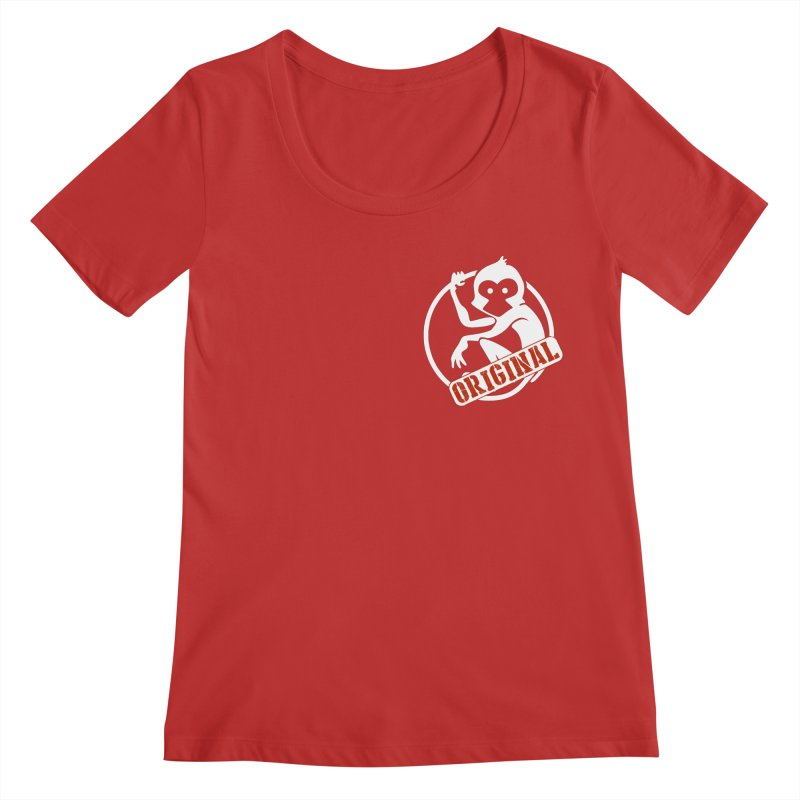 Monkey Original Small Logo Women's Regular Scoop Neck by The m0nk3y Merchandise Store