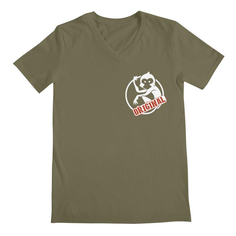Monkey Original Small Logo Men's Regular V-Neck by The m0nk3y Merchandise Store