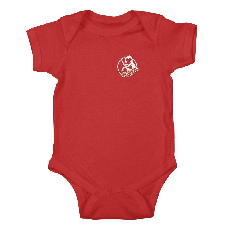 Monkey Original Small Logo Kids Baby Bodysuit by The m0nk3y Merchandise Store