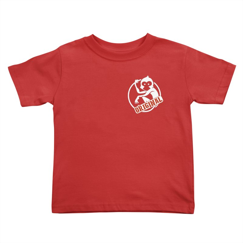 Monkey Original Small Logo Kids Toddler T-Shirt by The m0nk3y Merchandise Store