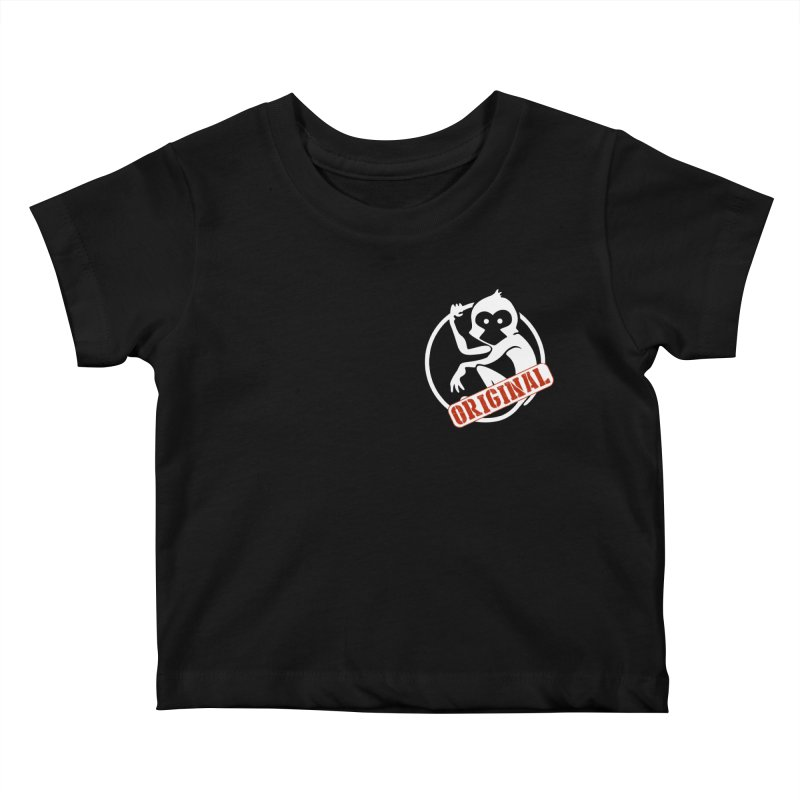 Monkey Original Small Logo Kids Baby T-Shirt by The m0nk3y Merchandise Store