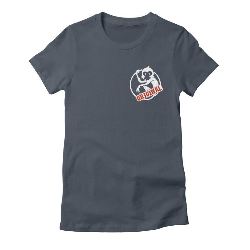 Monkey Original Small Logo Women's T-Shirt by The m0nk3y Merchandise Store