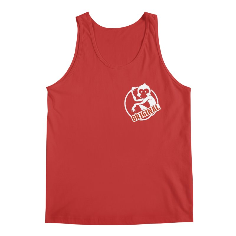 Monkey Original Small Logo Men's Regular Tank by The m0nk3y Merchandise Store