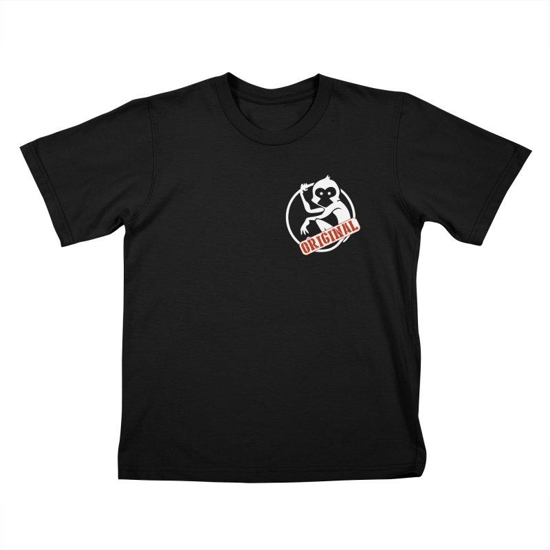 Monkey Original Small Logo Kids T-Shirt by The m0nk3y Merchandise Store