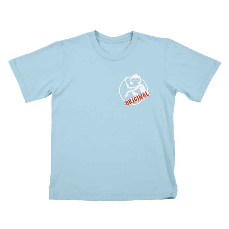 Monkey Original Small Logo Kids T-Shirt by The m0nk3y Merchandise Store