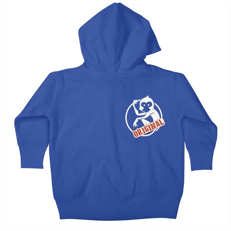 Monkey Original Small Logo Kids Baby Zip-Up Hoody by The m0nk3y Merchandise Store